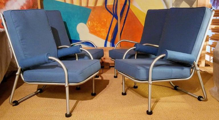 Warren McArthur Four Lounge Chairs, Circa 1939 For Sale 2