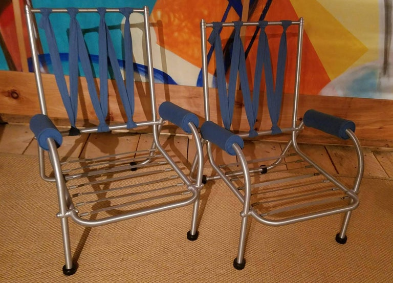 Warren McArthur Four Lounge Chairs, Circa 1939 For Sale 3