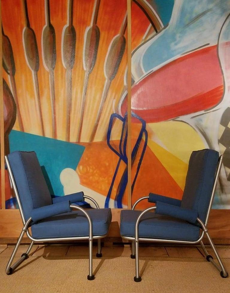 Machine Age Warren McArthur Four Lounge Chairs, Circa 1939 For Sale