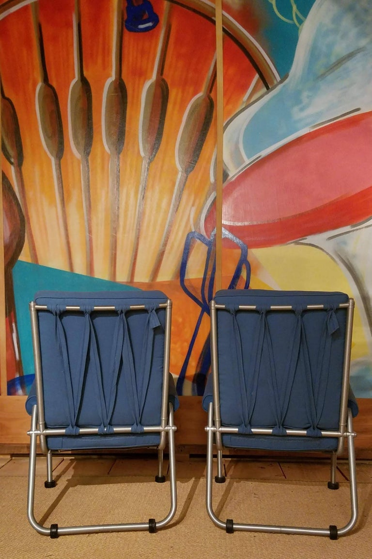 Anodized Warren McArthur Four Lounge Chairs, Circa 1939 For Sale