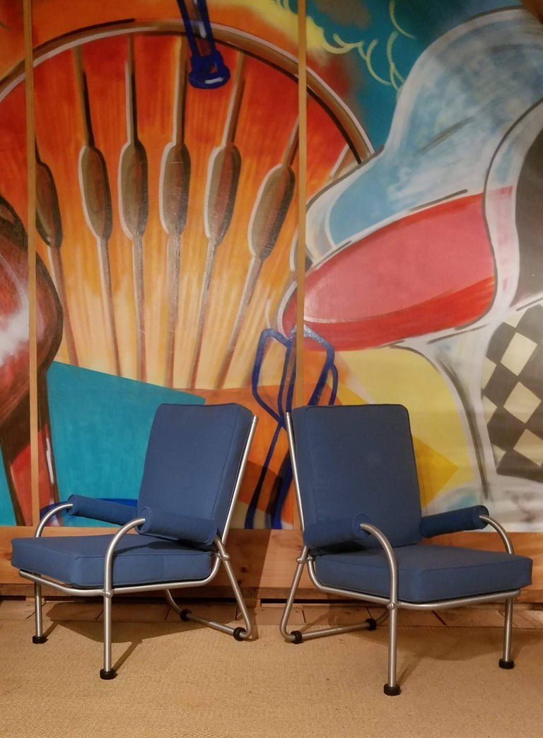 Warren McArthur Four Lounge Chairs, Circa 1939 In Good Condition For Sale In Camden, ME