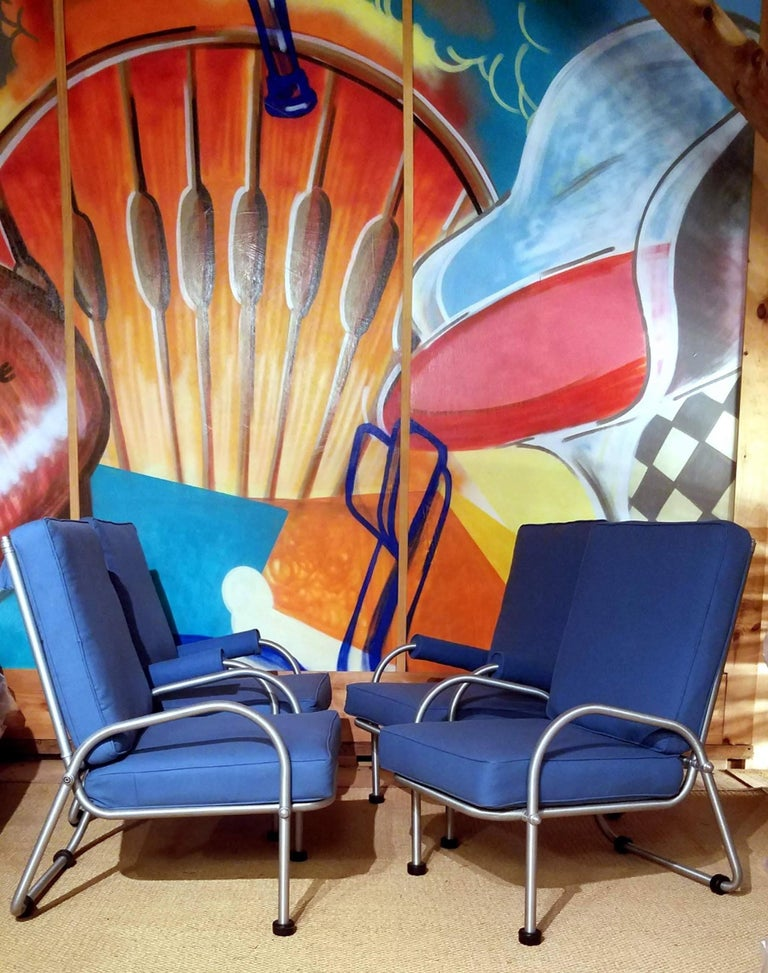 Mid-20th Century Warren McArthur Four Lounge Chairs, Circa 1939 For Sale