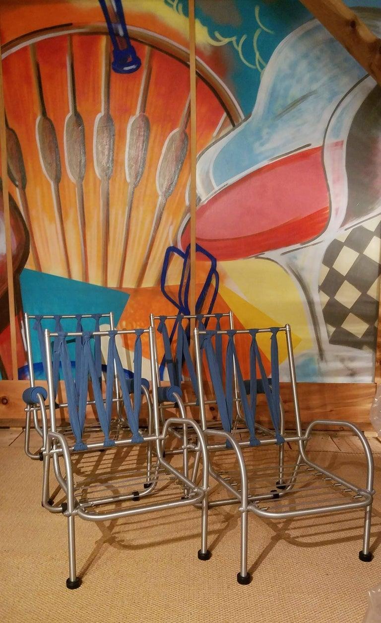 Aluminum Warren McArthur Four Lounge Chairs, Circa 1939 For Sale