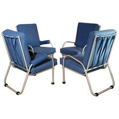 Warren McArthur Four Lounge Chairs, Circa 1939