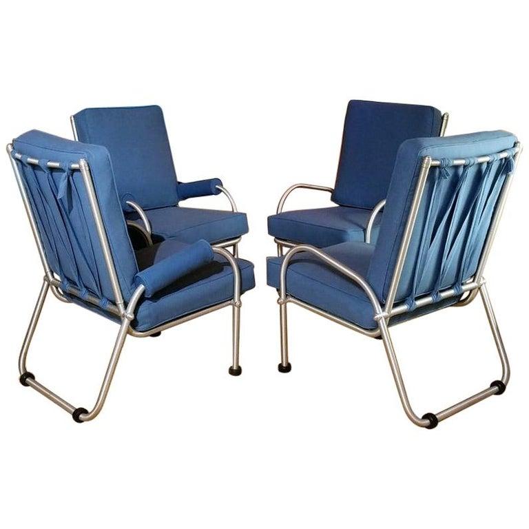 Warren McArthur Four Lounge Chairs, Circa 1939 For Sale