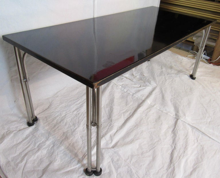 Mid-20th Century Warren McArthur Library Work Table Stainless Steel, circa 1935 For Sale