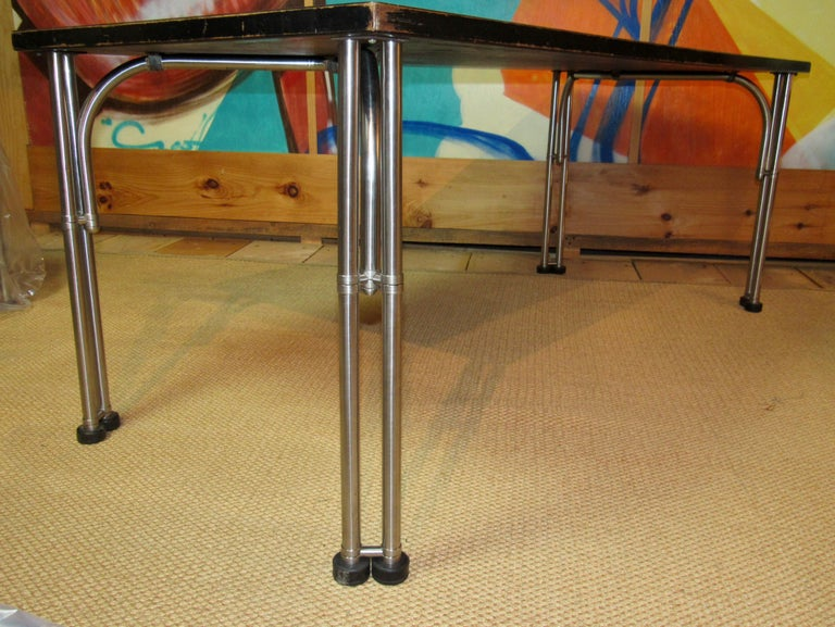 Warren McArthur Library Work Table Stainless Steel, circa 1935 For Sale 2