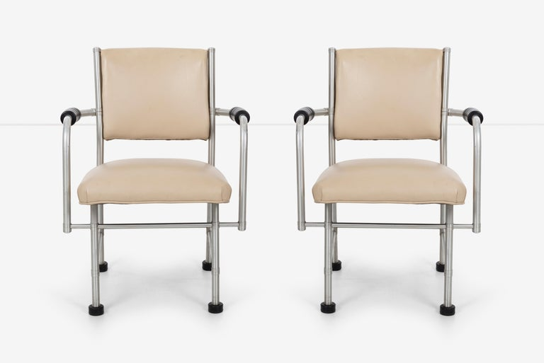 Machine Age Warren McArthur Pair of Chairs a Revision of The Sardi's Chair For Sale