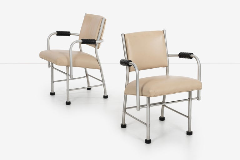American Warren McArthur Pair of Chairs a Revision of The Sardi's Chair For Sale