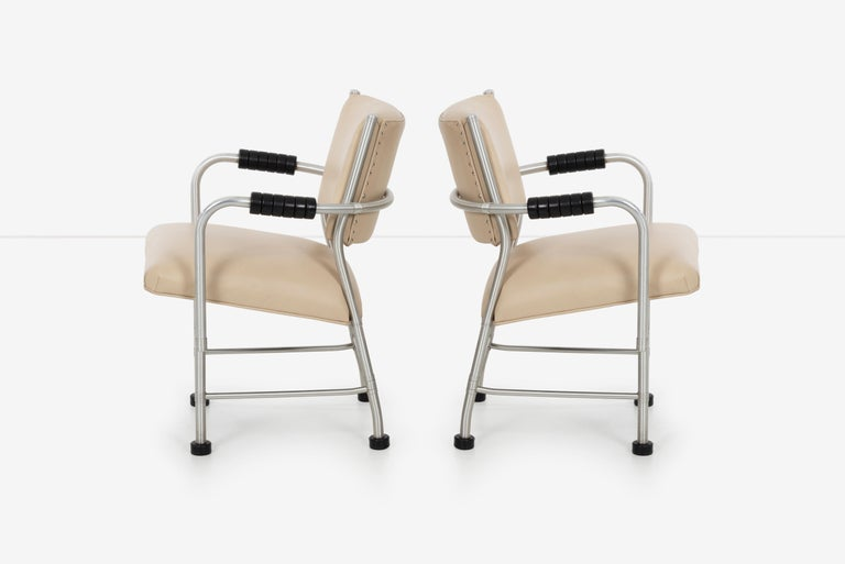 Warren McArthur Pair of Chairs a Revision of The Sardi's Chair In Good Condition For Sale In Chicago, IL