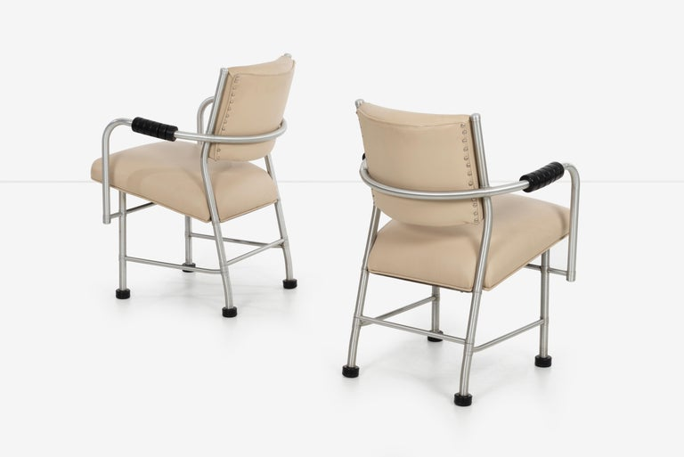 Mid-20th Century Warren McArthur Pair of Chairs a Revision of The Sardi's Chair For Sale