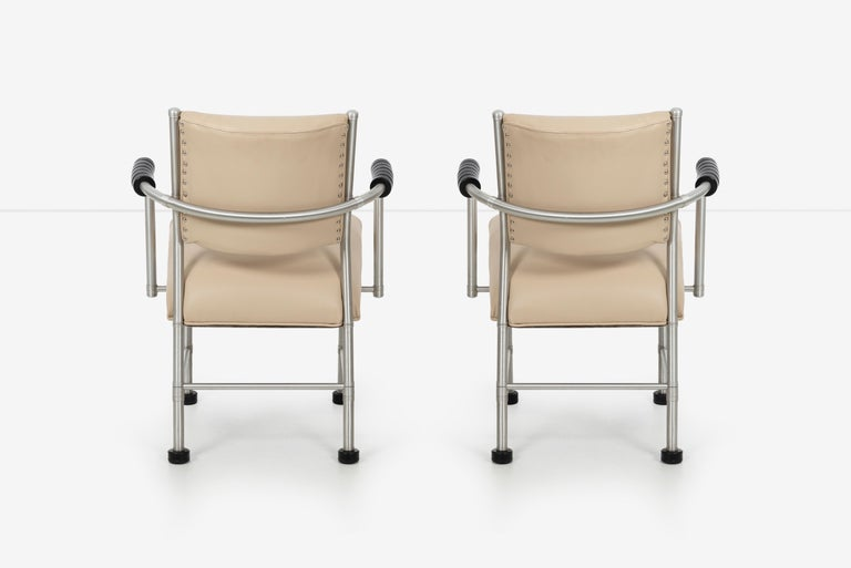 Aluminum Warren McArthur Pair of Chairs a Revision of The Sardi's Chair For Sale