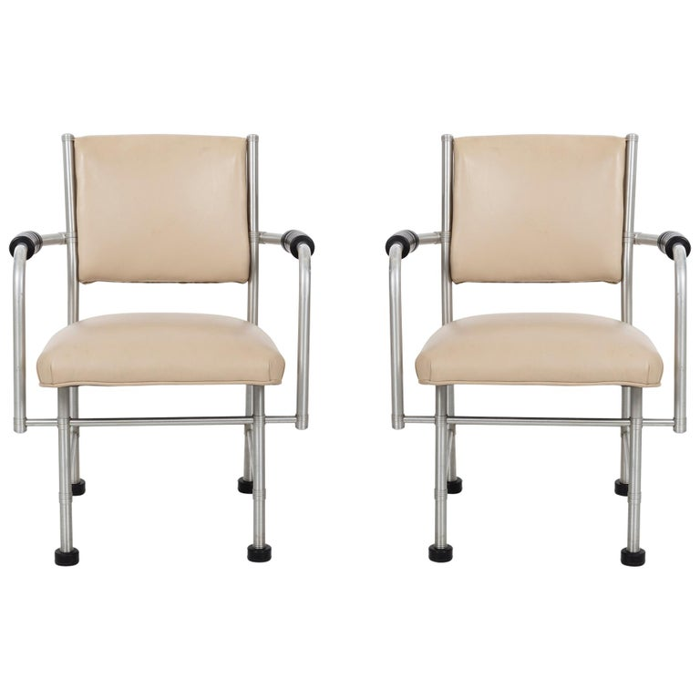 Warren McArthur Pair of Chairs a Revision of The Sardi's Chair For Sale