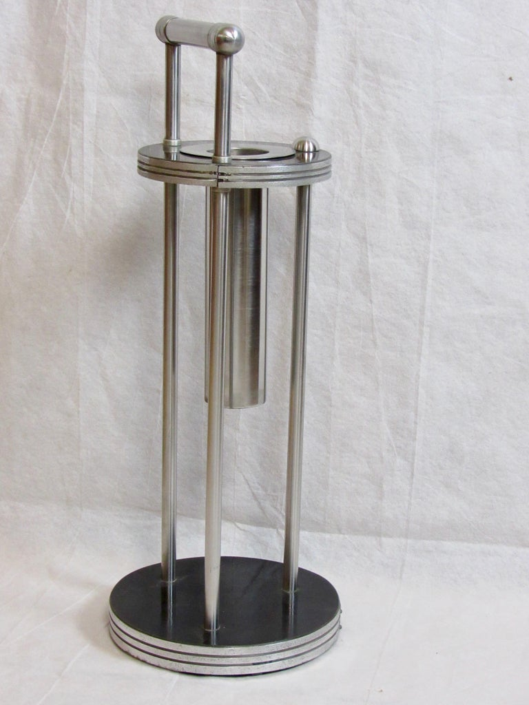 Art Deco Warren McArthur Stainless Steel Smoking Stand, 1934-1935 For Sale