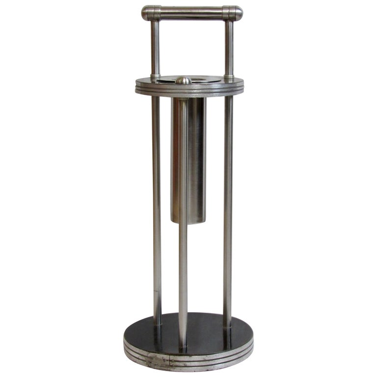 Warren McArthur Stainless Steel Smoking Stand, 1934-1935 For Sale