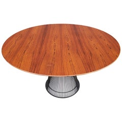 Warren Platner 1960s Early Rosewood and Bronze Dining Table