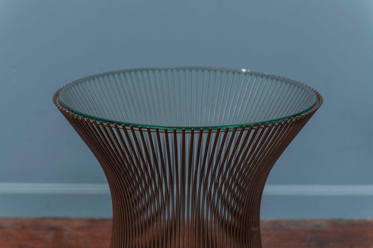 Mid-Century Modern Warren Platner Bronze Side Table for Knoll For Sale