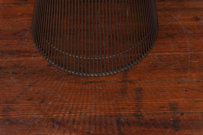 American Warren Platner Bronze Side Table for Knoll For Sale