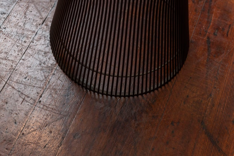Wire Warren Platner Bronze Side Table for Knoll For Sale