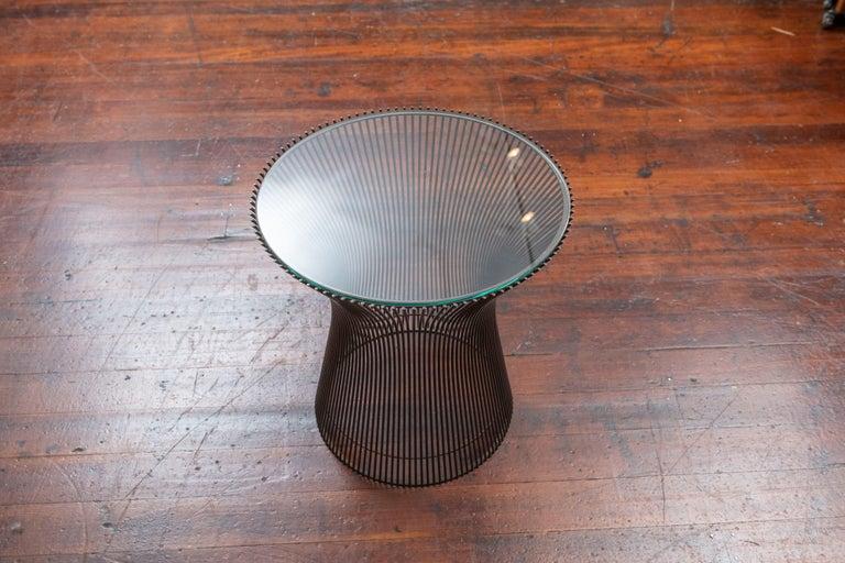 Warren Platner Bronze Side Table for Knoll For Sale 1