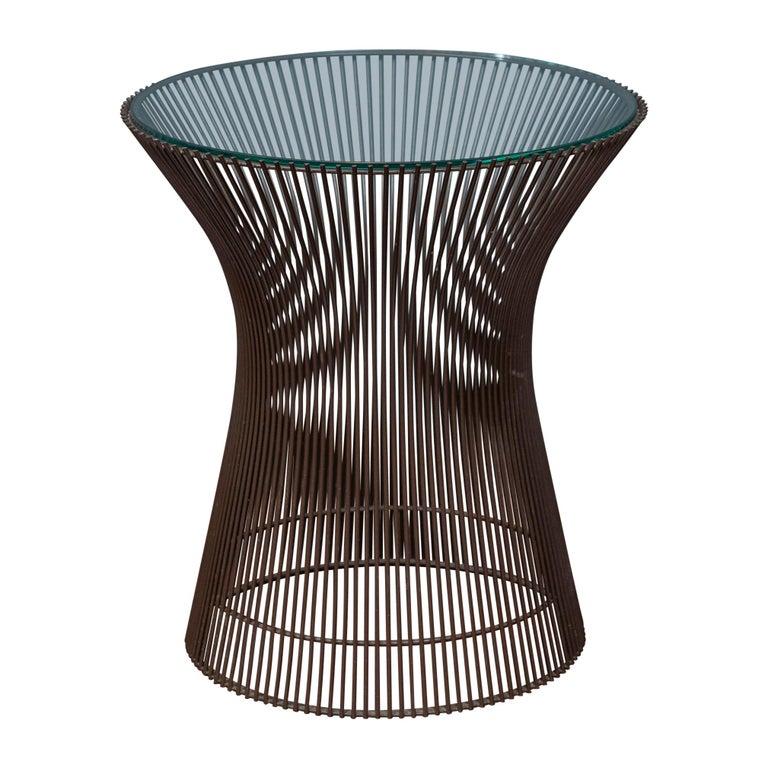 Warren Platner Bronze Side Table for Knoll For Sale