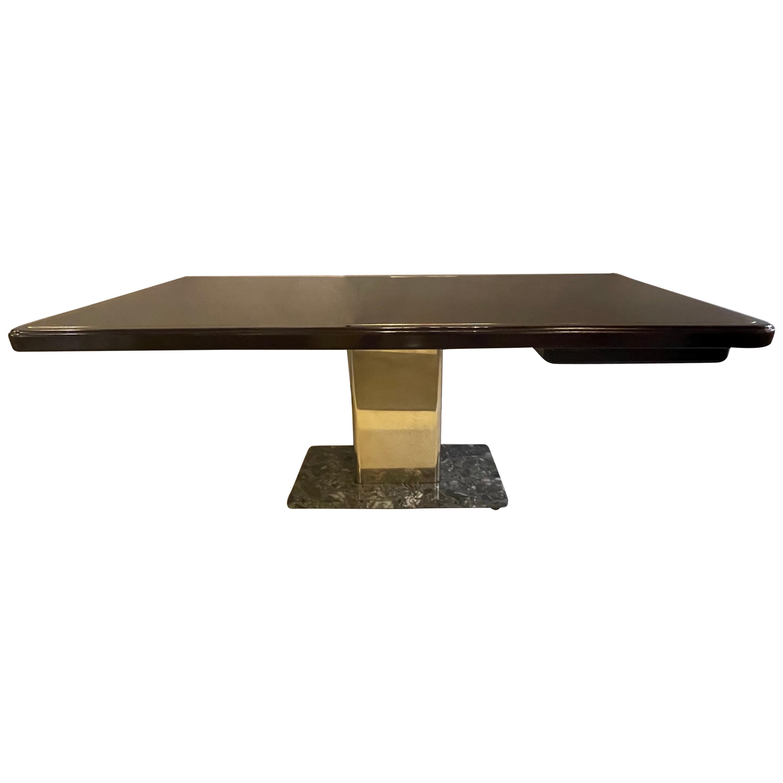 Warren Platner Desk Mid-Century Modern on a Rosewood, Brass and Marble Base