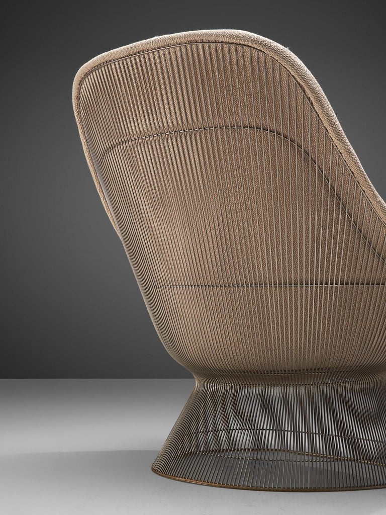 Warren Platner Easy Chair and Ottoman for Knoll For Sale 2