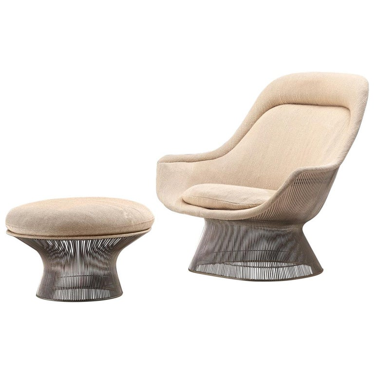 Warren Platner Easy Chair and Ottoman for Knoll For Sale