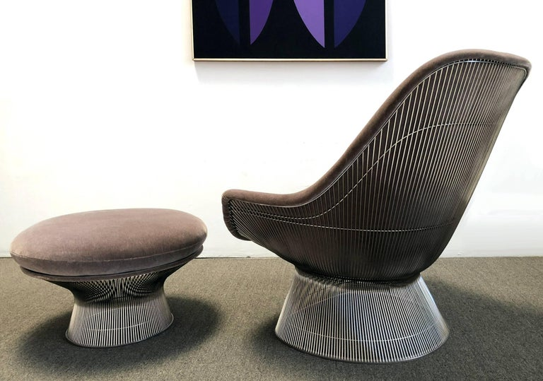 Mid-Century Modern Warren Platner Easy Chair and Ottoman from Knoll International For Sale