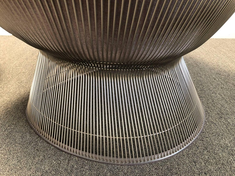 American Warren Platner Easy Chair and Ottoman from Knoll International For Sale