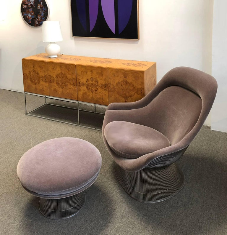 Warren Platner Easy Chair and Ottoman from Knoll International In Excellent Condition For Sale In Los Angeles, CA