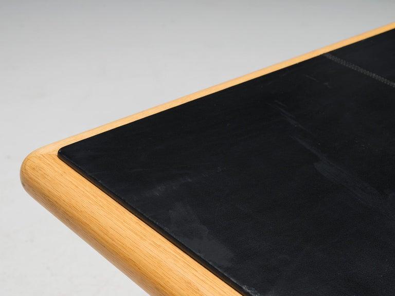 Steel Warren Platner Executive Desk with Black Leather Top For Sale