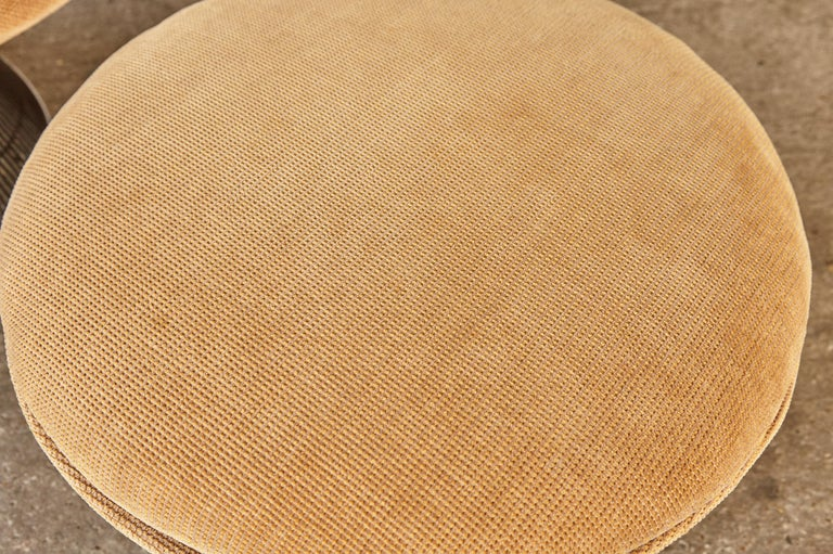 Warren Platner for Knoll Bronze Lounge Chair and Ottoman, USA, 1960s/70s For Sale 4