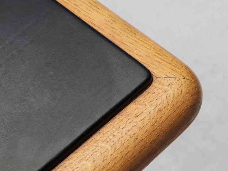 Warren Platner for Knoll Executive Desk in Black Leather For Sale 5