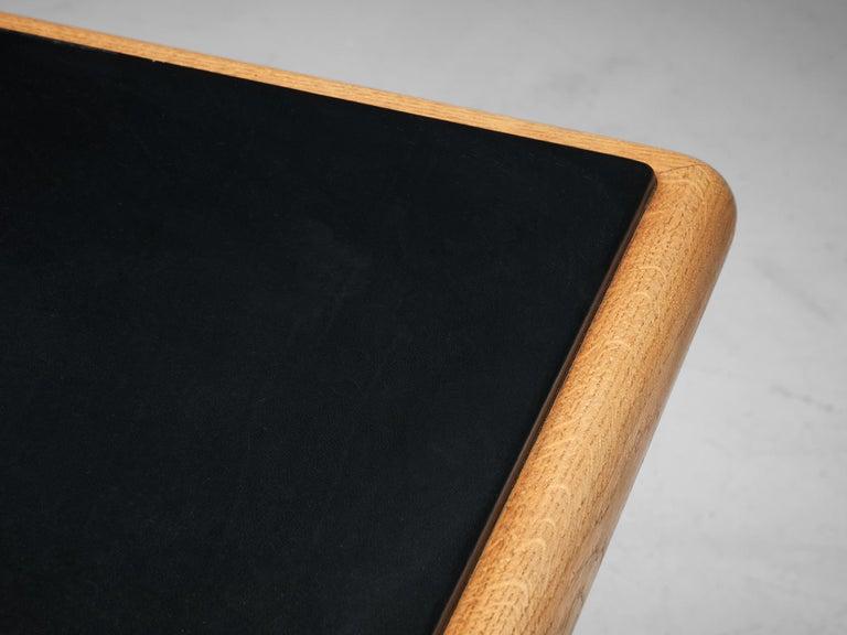 Warren Platner for Knoll Executive Desk in Black Leather For Sale 1