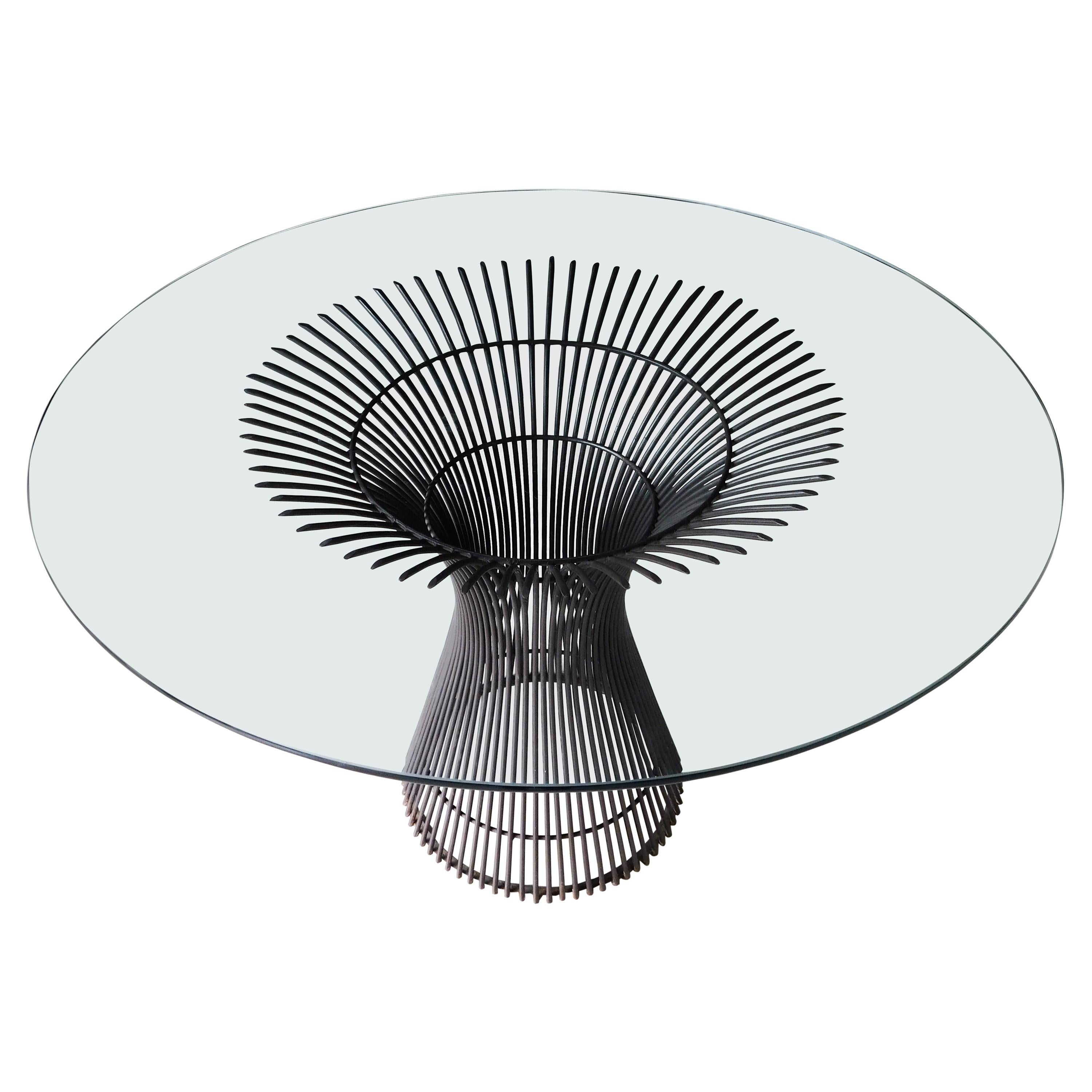 Warren Platner for Knoll Glass Round Dining Table