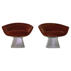 Warren Platner for Knoll International Pair of Armchairs with Original Labels