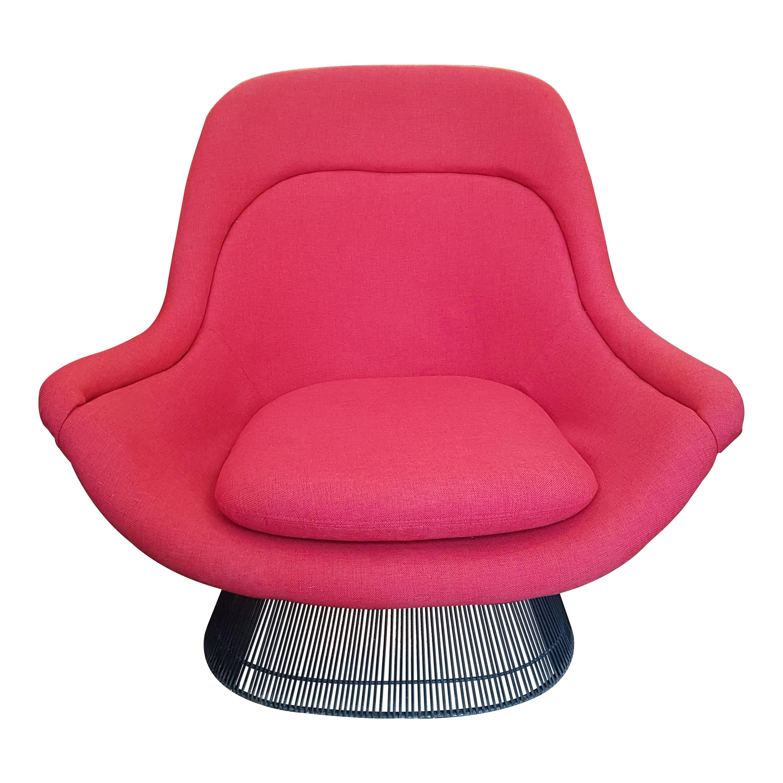 Warren Platner Attributed Steel Lounge Chair