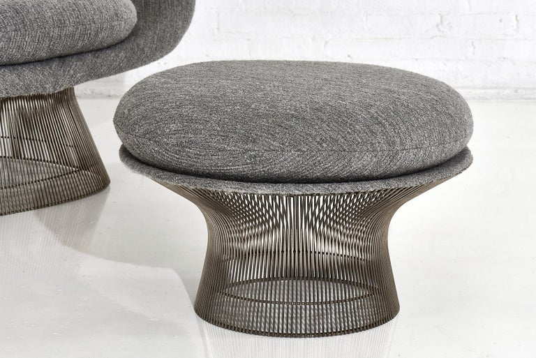 Mid-Century Modern Warren Platner for Knoll Lounge Chair with Ottoman