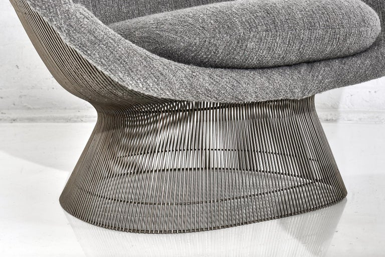 American Warren Platner for Knoll Lounge Chair with Ottoman