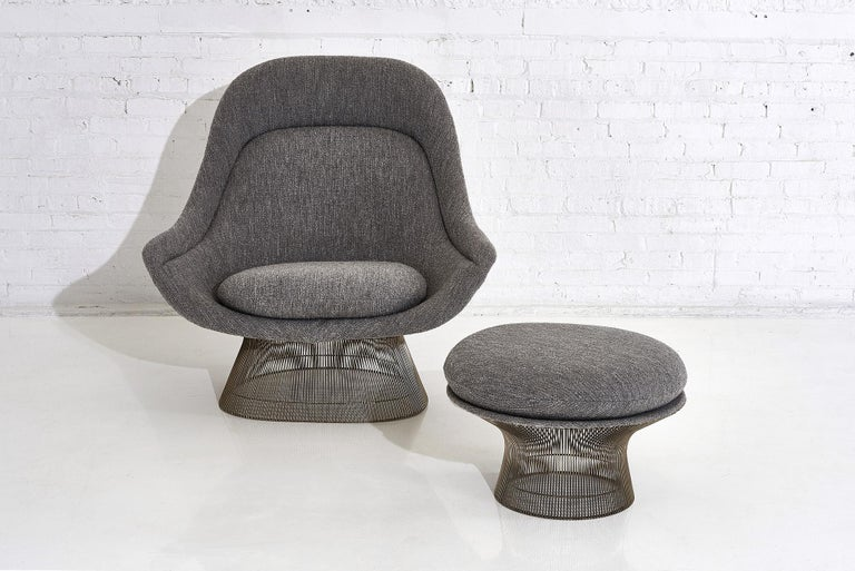 Mid-20th Century Warren Platner for Knoll Lounge Chair with Ottoman