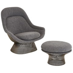 Warren Platner for Knoll Lounge Chair with Ottoman