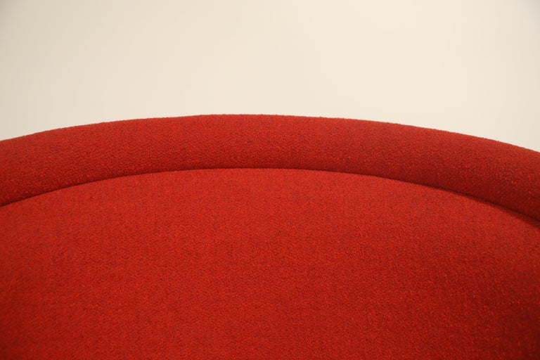 Warren Platner for Knoll Lounge Chairs in Red Wool Boucle For Sale 8