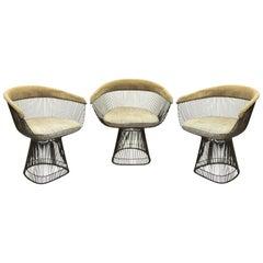 Warren Platner for Knoll Mid-Century Modern Bronze Wire Armchairs