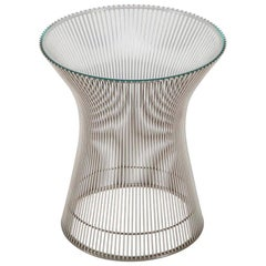 Warren Platner for Knoll Nickel Plated Side or End Table, circa 1980