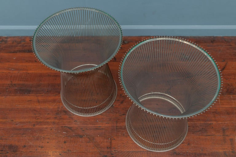 Late 20th Century Warren Platner for Knoll Side Tables For Sale