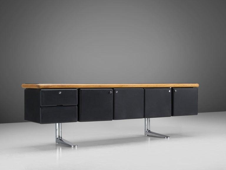 American Warren Platner for Knoll Sideboard in Original Leather For Sale