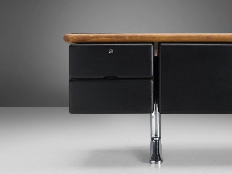 Warren Platner for Knoll Sideboard in Original Leather In Good Condition For Sale In Waalwijk, NL