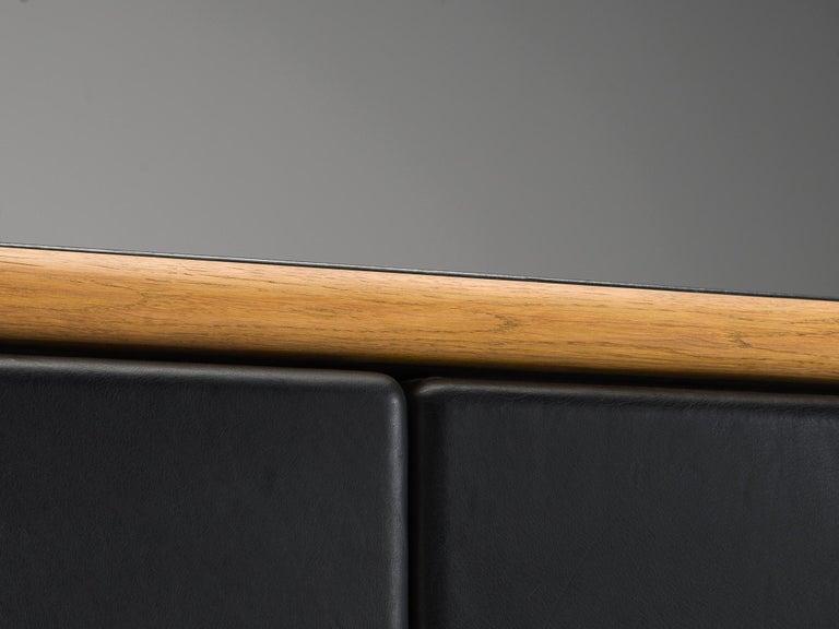 Warren Platner for Knoll Sideboard in Original Leather For Sale 1