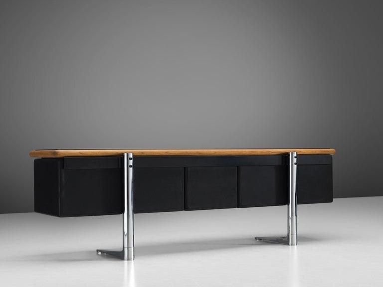 Warren Platner for Knoll Sideboard in Original Leather For Sale 2